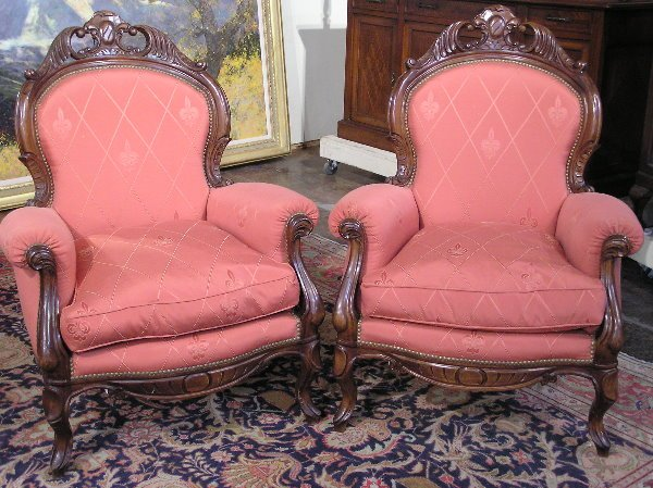 6: Pair of Victorian Style Chairs
