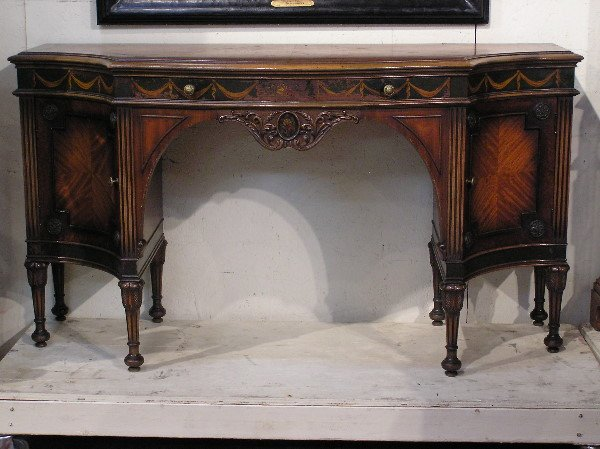18: Inlaid Hand Painted Console