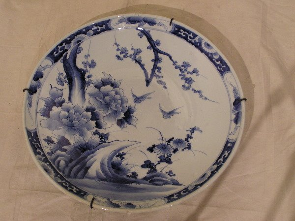 23: Early Canton Blue and White Charger