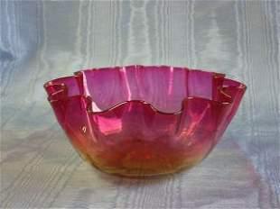 Libbey Amberina Bowl 412-015