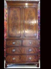 63: mahogany linen press 460-21