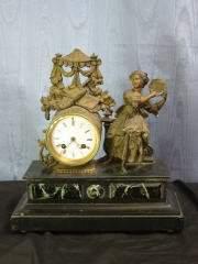 Clock w/ Lady 425-55