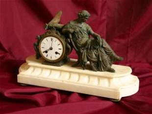 Clock & Lady Statue 425-60