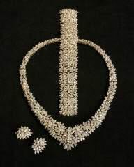 256: Ladies Diamond Necklace & Earrings 180-6