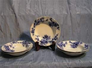 Set of 5 Flow Blue Bowls 425-50