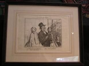 Daumier Lithograph #10 317-21