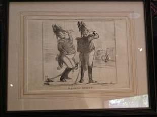 Daumier Lithograph #184 317-18