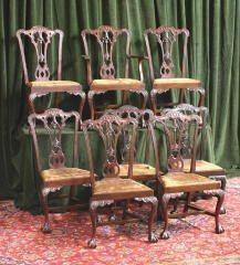 23: Set of 8 Chippendale Chairs 455-79