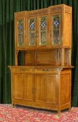 Cabinet with Stained Glass Doors 470-92