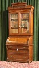 Walnut Cylinder Roll Bookcase 245-136