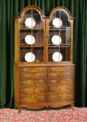 1014: Double Arch Top China Cabinet 465-54