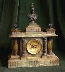 Onyx and Bronze Clock 468-56