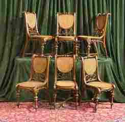 6 Italian Chairs w/ Cane Seats & Backs 470-139