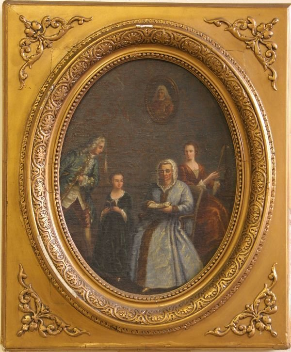 5: Oil on Canvas of an Interior Scene