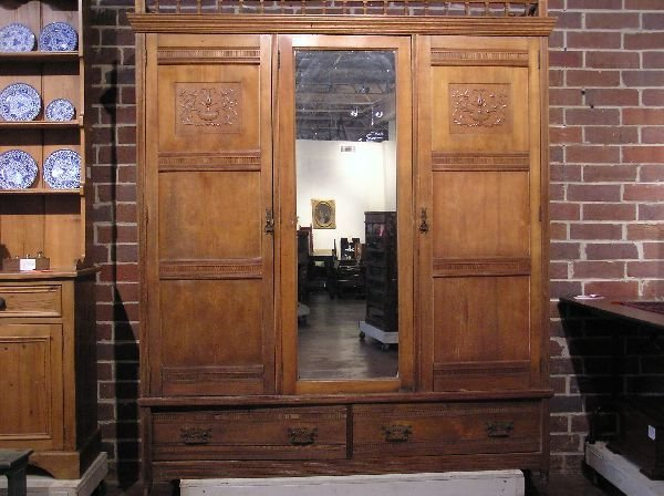 12: Three Door Oak and Ash Armoire