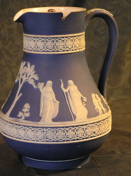 13: Signed Wedgewood Cameo Pitcher
