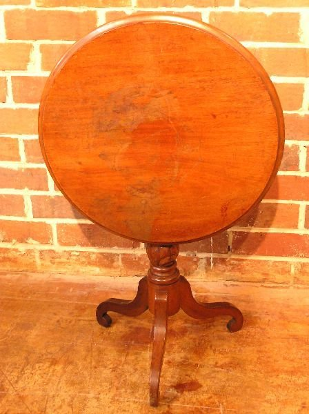 14: American Walnut Tilt Top Table