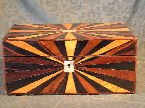 19: Inlaid Wood Sewing Box