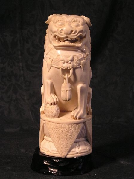 23: Carved Ivory Foo Dog