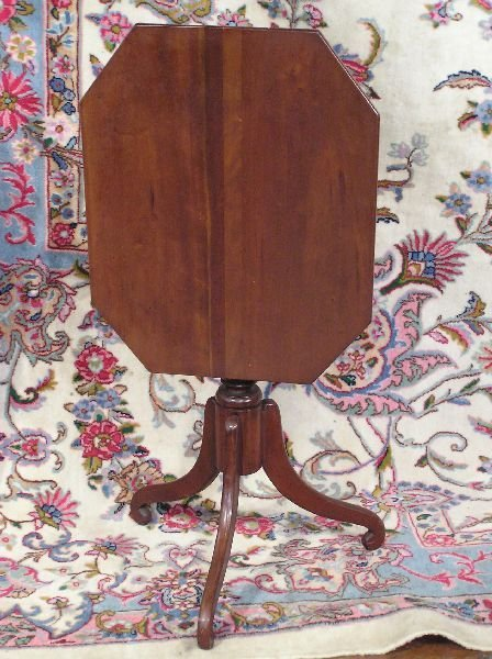 2: Small Cherry Tilt Top Table