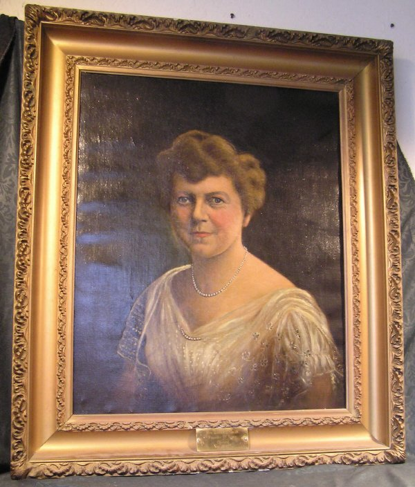 5: Oil on Canvas Portrait of Mrs. Hunter G. Smith