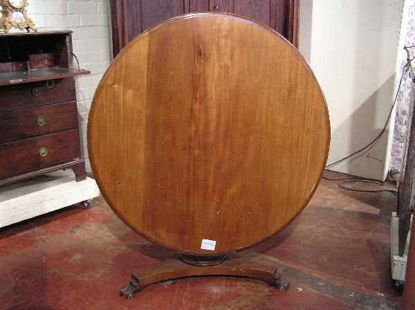 6: Regency Mahogany Tilt Top Table