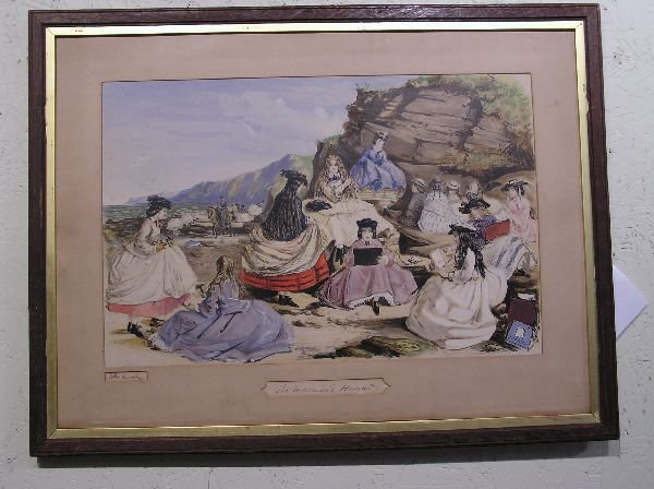 15: John Leech Oil Painted Lithograph