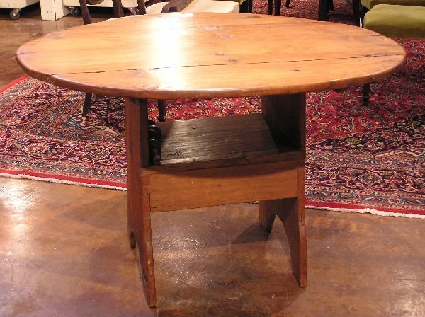 16: Early Pine Tilt Top Chair Table