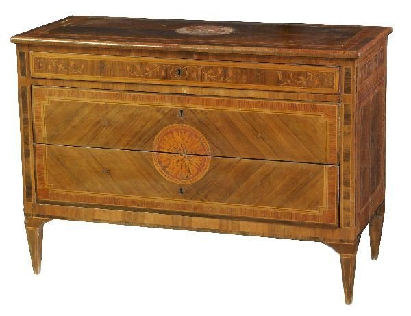 84: Early Italian Inlaid Commode