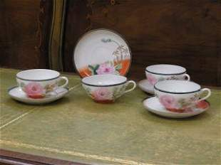 1004: Set of 4 Nipon Cups and Saucers #222