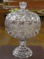 1008: Moon and Star Compote with Lid #128