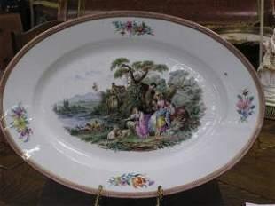 1009: Large Oval Portrait Platter #190
