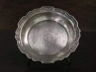 1011: Sterling Silver Plate with Monogram #540