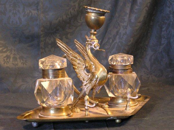 3: Bronze Gryphon Inkwell