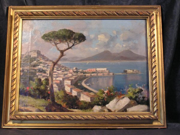 5: Pair of Oil on Canvas Paintings Signed G. Salvati