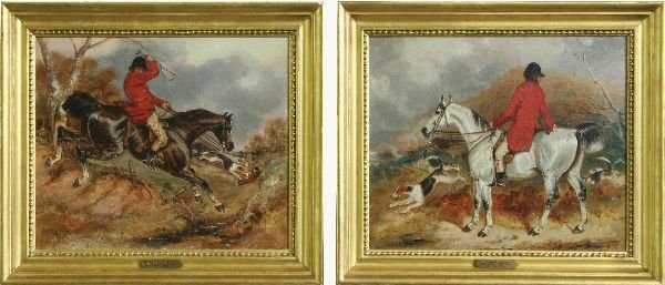 15: Pair of Hunt Scenes Attributed to William Shayers