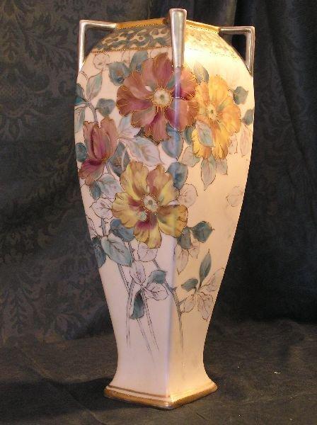 19: Hand Painted Nippon Floral Vase