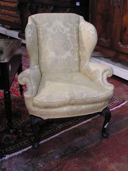 126: Queen Anne Wingback Chair