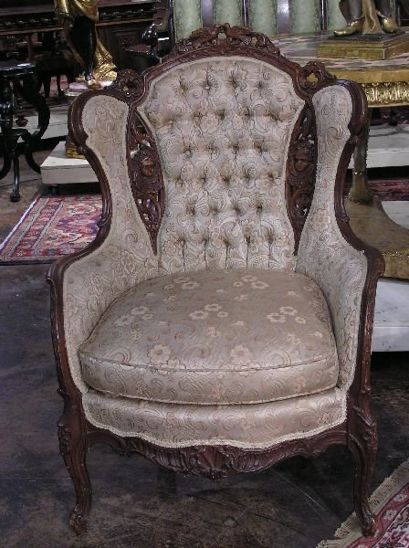 2: French Style Wingback Chair