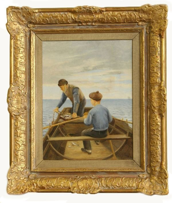 5: Artist Signed Oil on Canvas by Oscar Frans Stenvall