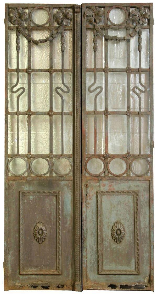6: Pair of Art Nouveau Iron Doors