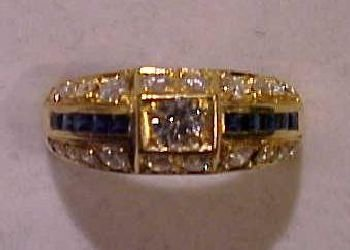11: Men's 18K Gold and Sapphire Ring