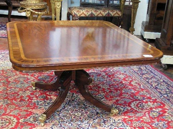 12: Bench Made Regency Mahogany Dining Table