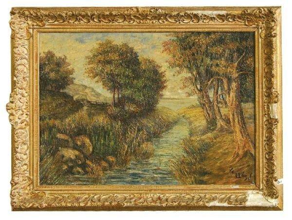 15: Oil on Canvas Landscape