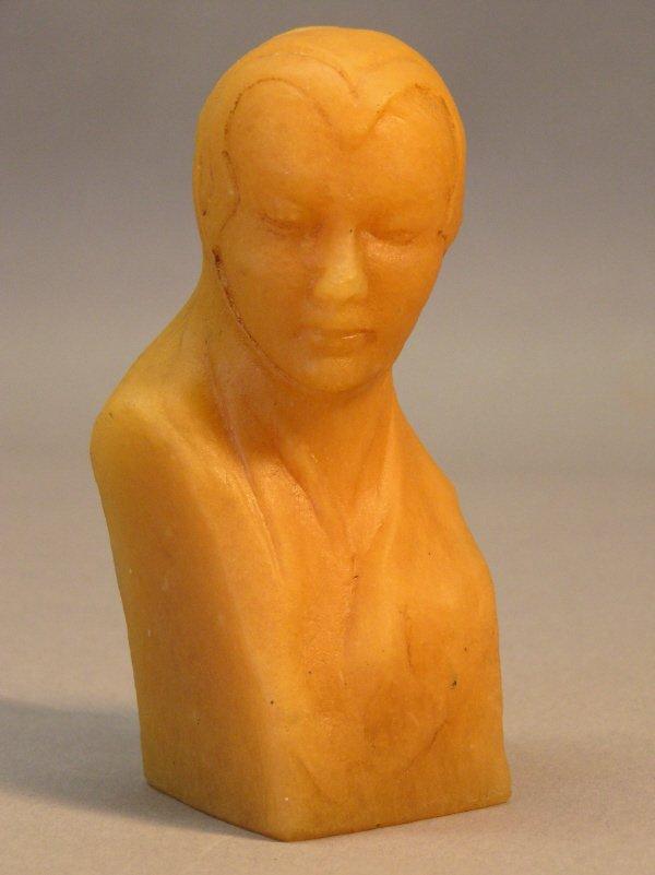23: George Despret Pate de Verre Bust of a Woman