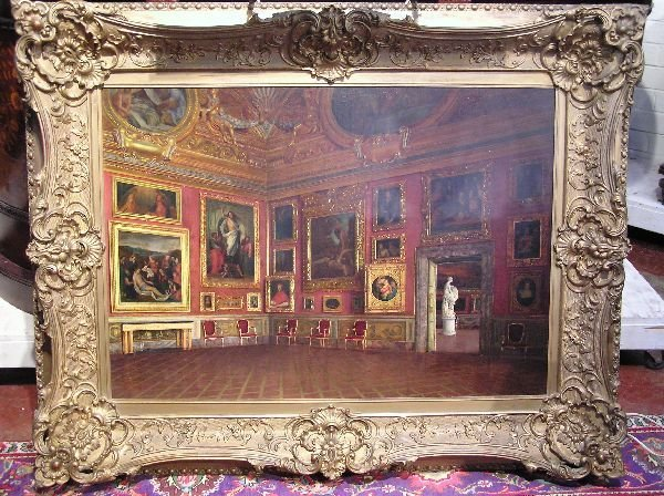 105: Signed Oil on Canvas of Pitti Palace