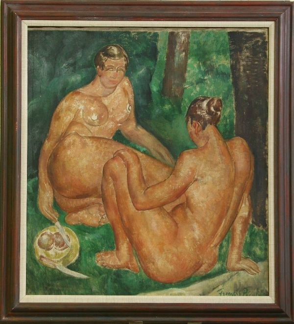 155: Oil on Canvas Signed Picabia