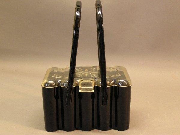 1: Vintage Black Plastic Purse