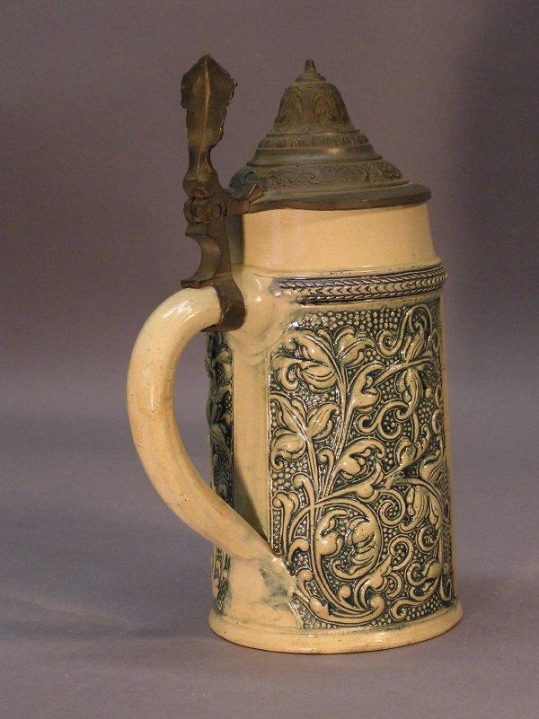 3: German Beer Stein with Figural Scene