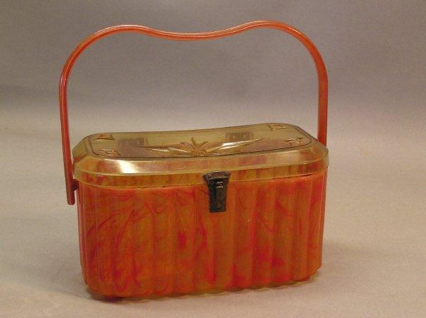 11: Vintage Orange Plastic Purse